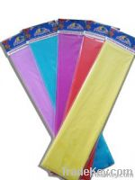 color crepe paper wrapping paper