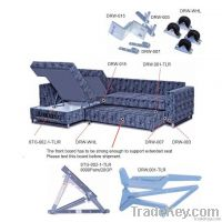 Click and draw out sofa bed mechanism