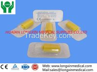 medical disposable heparin cap /in stopper yellow , transparent
