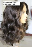 100% virgin Indian hair front lace wig