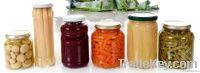 canned food glass jar