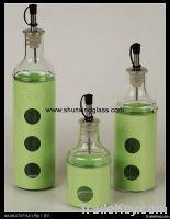 glass olive oil bottle