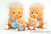 plush lovely bear family