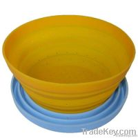 hot sell kitchenware silicone folding colander