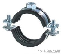 Two screws pipe clamp with rubber
