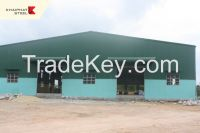 Pre-engineered steel building, steel warehouse