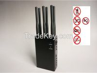 6 Band GSM CDMA DCS 3G 300W moving signal Jammer