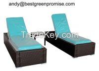 2015 Rattan Chaise lounge