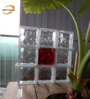 Hollow Crystal Clear Cloudy Glass Block