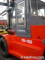 Used Toyota 15T Forklift Original Japan