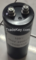 screw terminal high voltage/capacitance aluminum Electrolytic capacitor