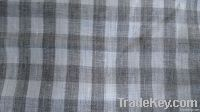 100%linen flax melange dyed check shirting fabric