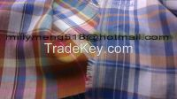 linen delave check shirting fabric