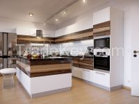 Fashionable Design High Glossy Lacquer Kitchen Cabinet