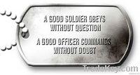 Aluminum dog tag dog ID military dog tag