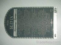 Wine label, metal label, bottle tag