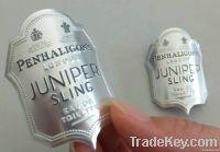 wine label , metal label , stannum wine label