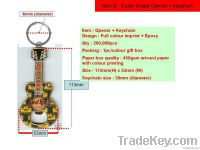 guitar shape opener +keychain, promotional gift, keyring
