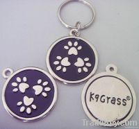 stainless steel dog tag with keyring, keychain, dog tag
