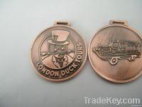 antique copper medal sport medal