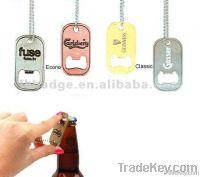 custom dog tag bottle opener