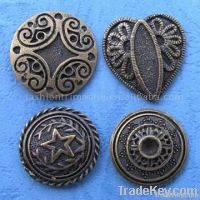 different design of metal button/button badge /belt buckle /tie clip