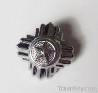 rose &star shaped  metal button, cloth accessory , belt buckle /cuff