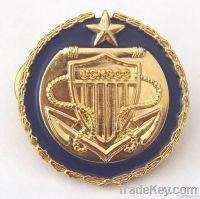 metal signage badge