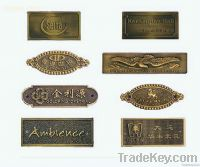 furniture label brass furniture label
