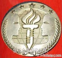 national badge ;metal badge ; tax badge