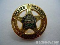 custom metal badge/hollow out/embossed badge/sport badeg/button bagde