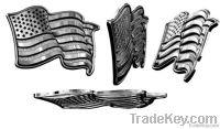 metal badge/ polished badge /irregular shape/army badge /sport badge