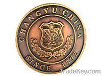metal badge/eagle shaped/plated badge/ pin badge /gold badge,