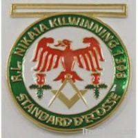 aluminium badge      square badge , custom aluminium badge , badge alumin