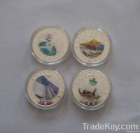 custom souvenir coin , fine gold coin , pure silver coin