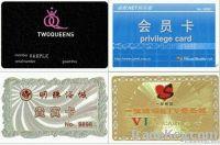 member card, copper card , gift card