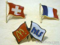 tin badge, button badge , flag  pin badge