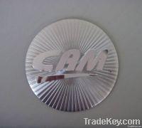 aluminum badge  fish tackle, metal plates , metal labels/logo