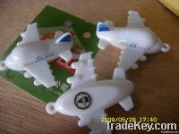 aircraft shape keyhold , letter keyring , metal keichain