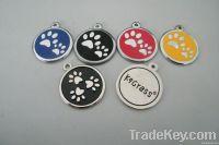 Flag logo dog tag dog ID pet ID aluminum dog tag