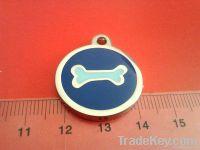 round dog tag, pendant , dog tag, dog ID, pet iD
