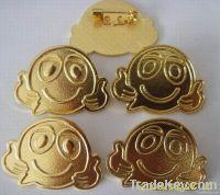 aluminum name badge pin, pin badge