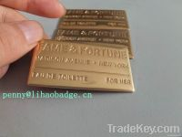 copper label, metal label
