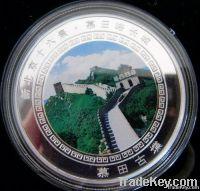 silver-gild coin, metal coin