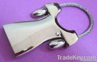 rectangle metal key chain, znic alloy key chain