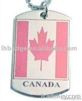 dog tag , pet dog , military dog tag, round sharped stainless steel