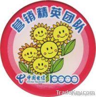 souvenir button badge, pin badge , brass badge