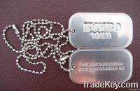 newest aluminium roll edge embossed dog tag, military tag