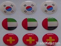 flag sticker with pin, epoxy sticker, crystal sticker