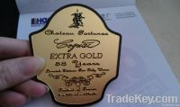 metal packing badge, wine packing nameplate, metal wine label, wine bo